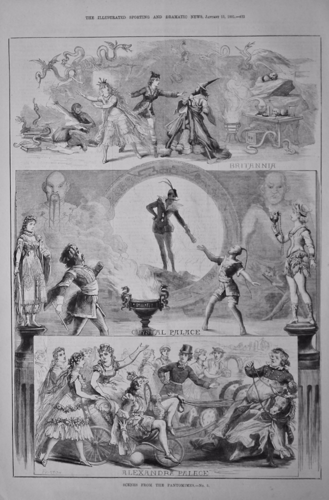 Scenes from the Pantomimes.- No. 3.  1881.