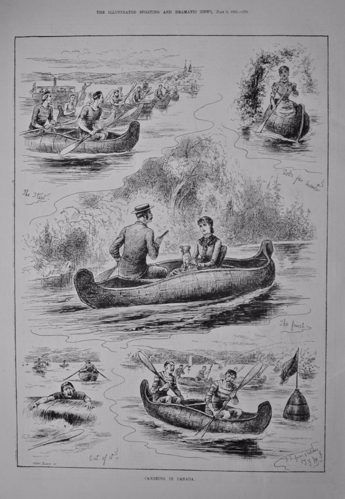 Canoeing in Canada.  1881.