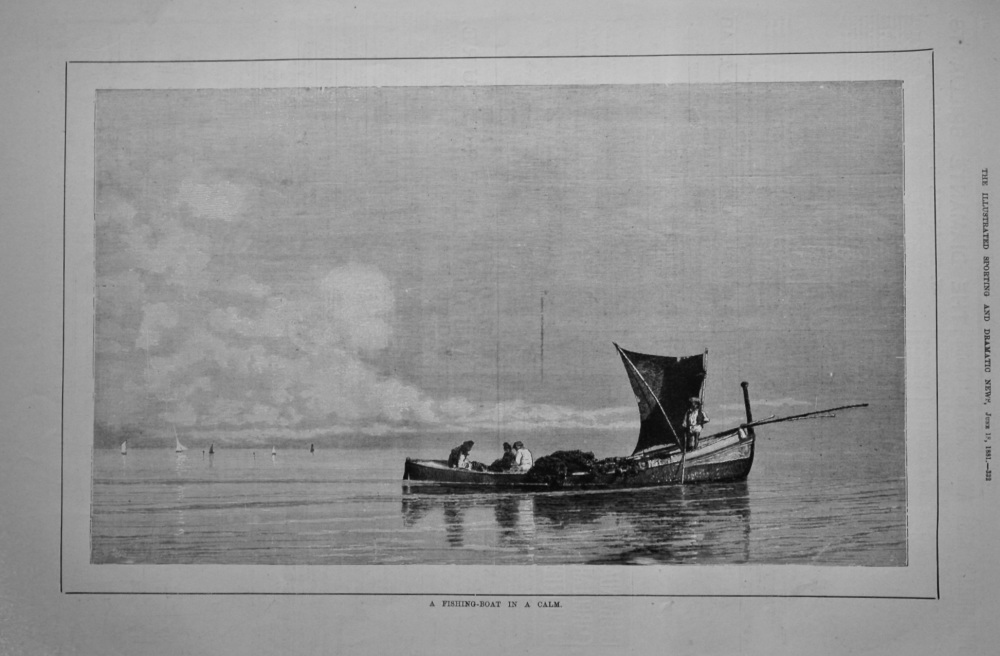 A Fishing-Boat in a Calm.  1881.