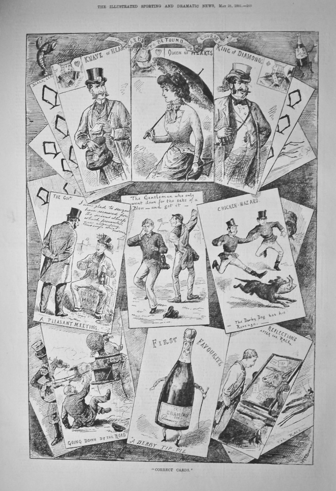 """""""Correct Cards.'   (The Derby)  1881."""