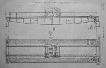 50-Ton Electric Overhead Travelling Crane.  1899.