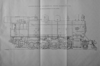 Consolidation Locomotive, Union Railroad U.S.A.  1899.