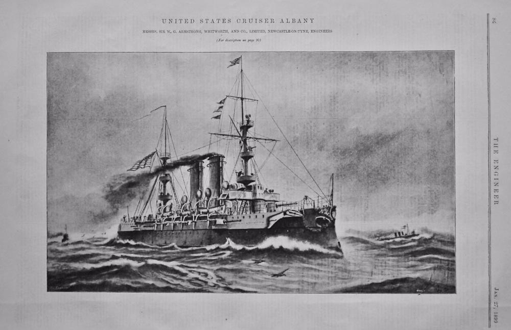 United States Cruiser Albany.  1899.