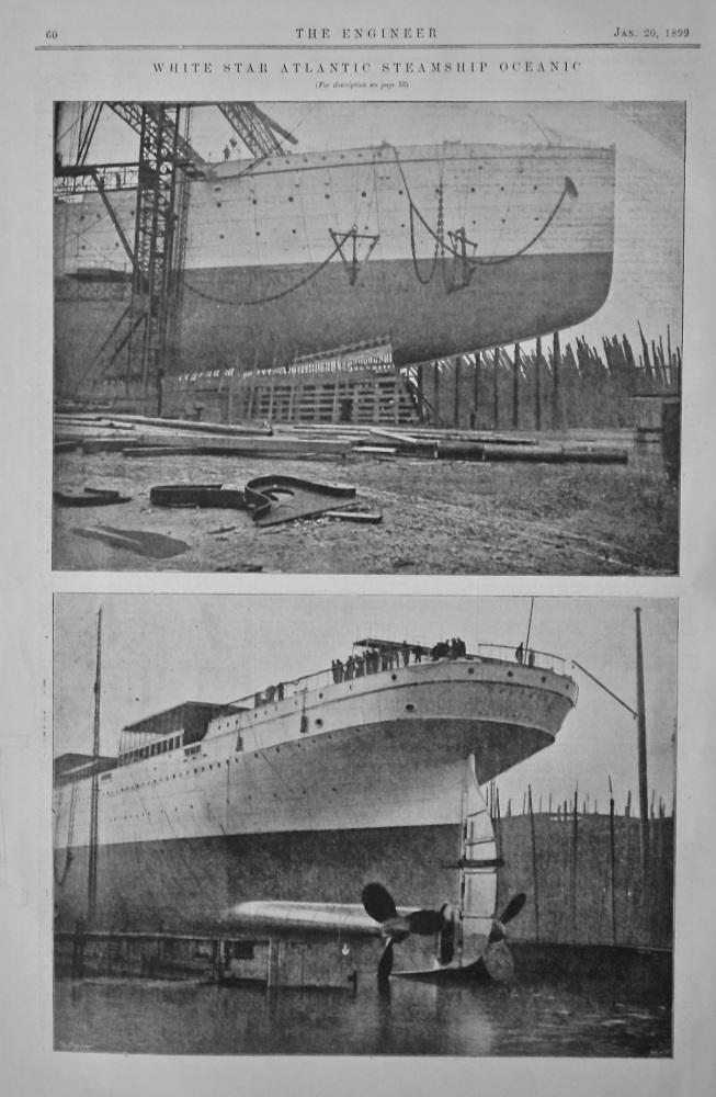 """White Star Atlantic Steamship """"Oceanic"""".  1899."""