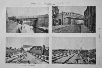 Bridges on the Great Central Railway..  1899.