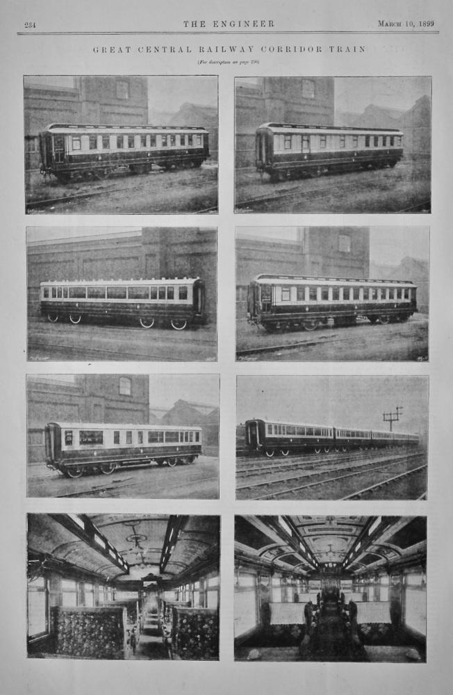 Great Central Railway Corridor Train.  1899.