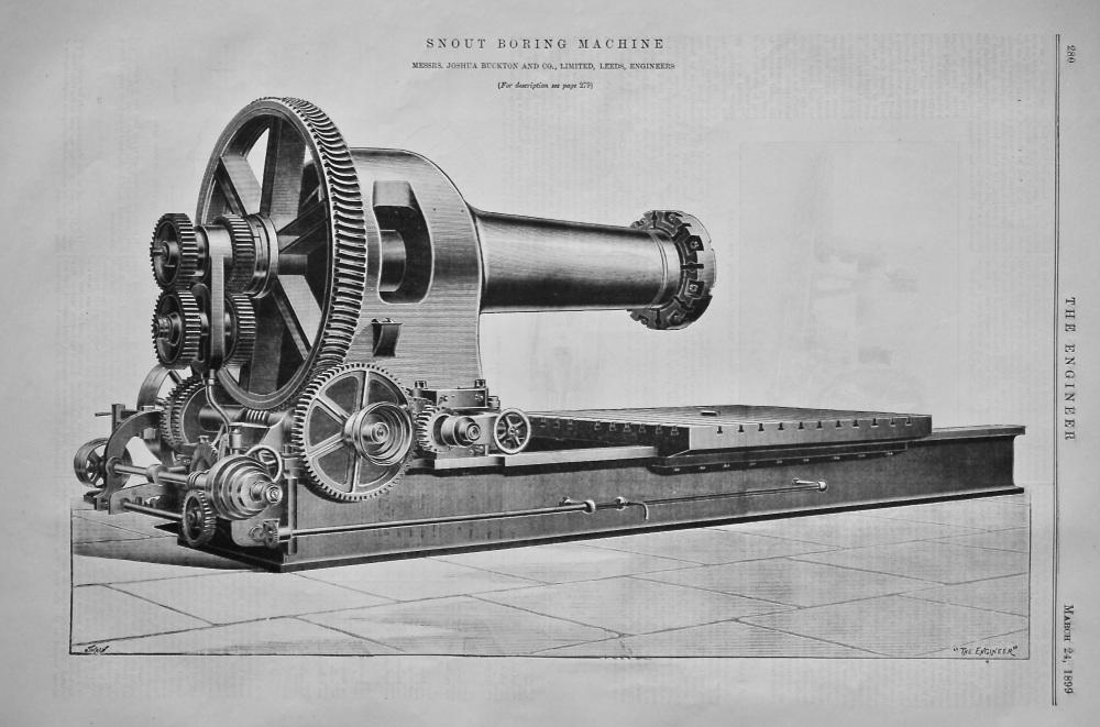 Large Snout Boring Machine.  1899.