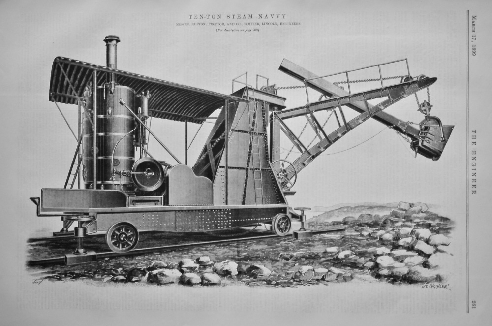 Ten-Ton Steam Navvy.  1899.