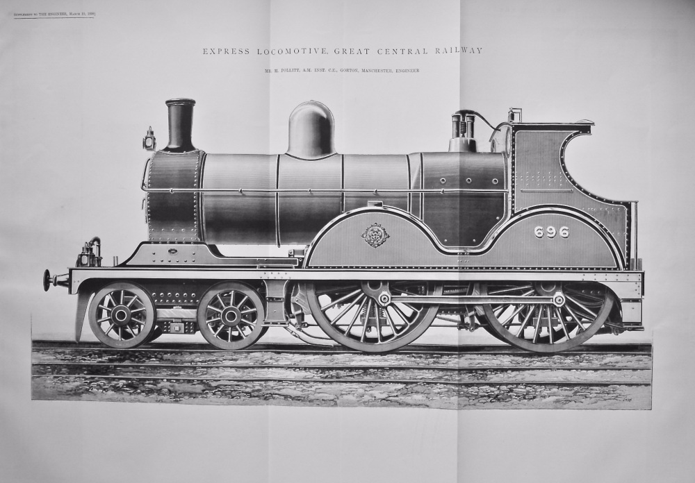 Express Locomotive, Great Central Railway.  1899.