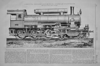 Compound Express Locomotive, Austrian Stadtsbahn.  1899.
