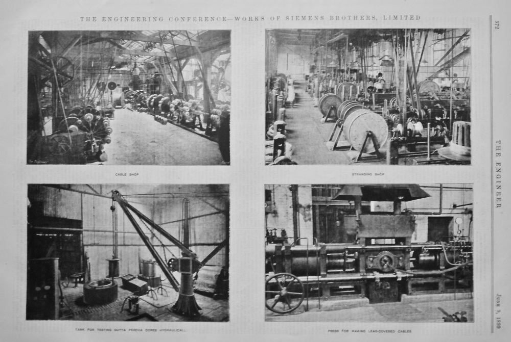 The Engineering Conference - Works of Siemens Brothers, Limited.  1899.