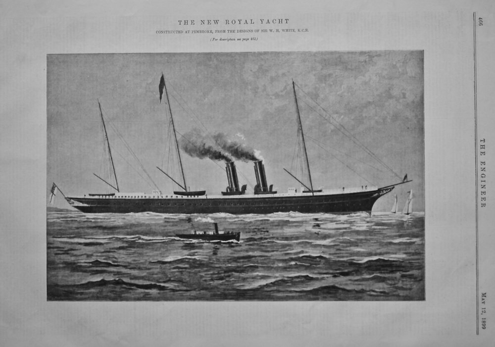 The New Royal Yacht Victoria and Albert.  1899.