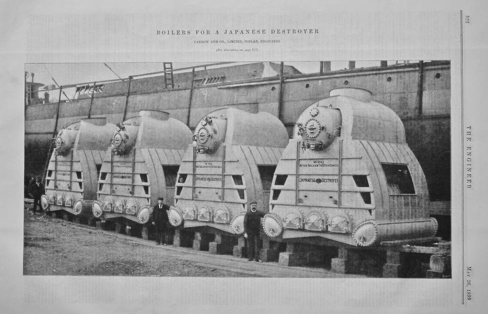 Boilers for a Japanese Destroyer.  1899.