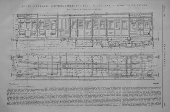 Bogie Carriages, South-Eastern and London, Chatham, and Dover Railways.  1899.
