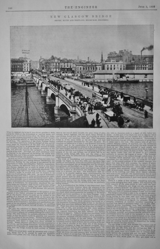 New Glasgow Bridge.  1899