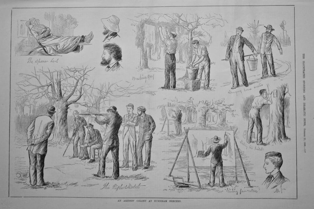 An Artists' Colony at Burnham Beeches.  1880.