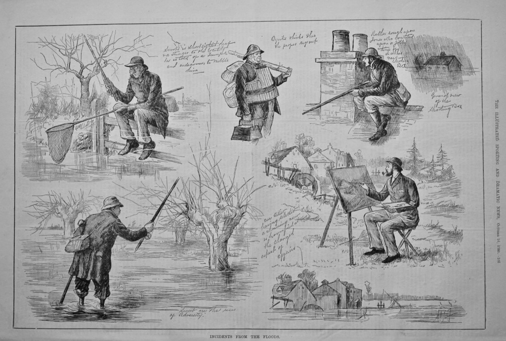 Incidents from the Floods.  1880.