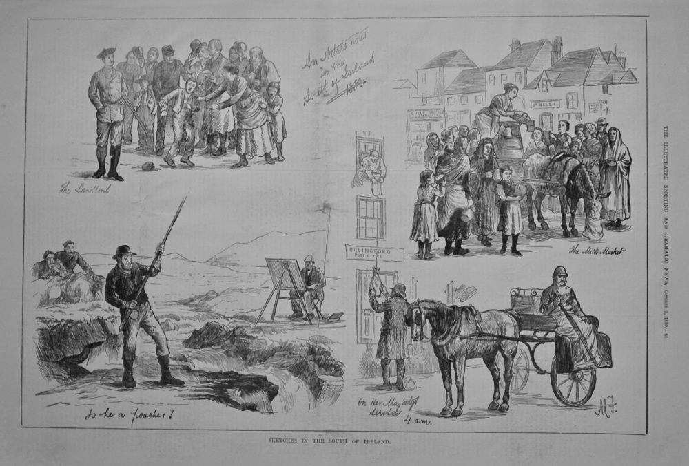 Sketches in the South of Ireland.  1880.