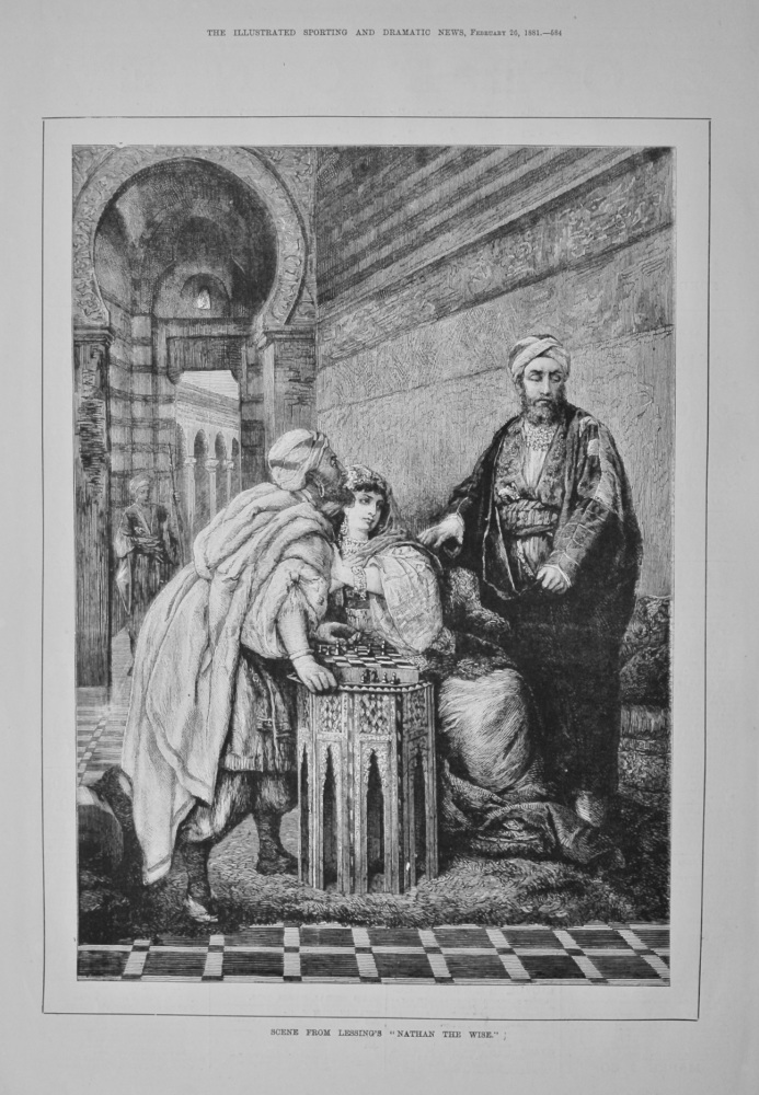 """Scene from Lessing's """"Nathan the Wise.""""  1881."""