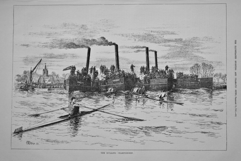 The Sculling Championship.  1881.