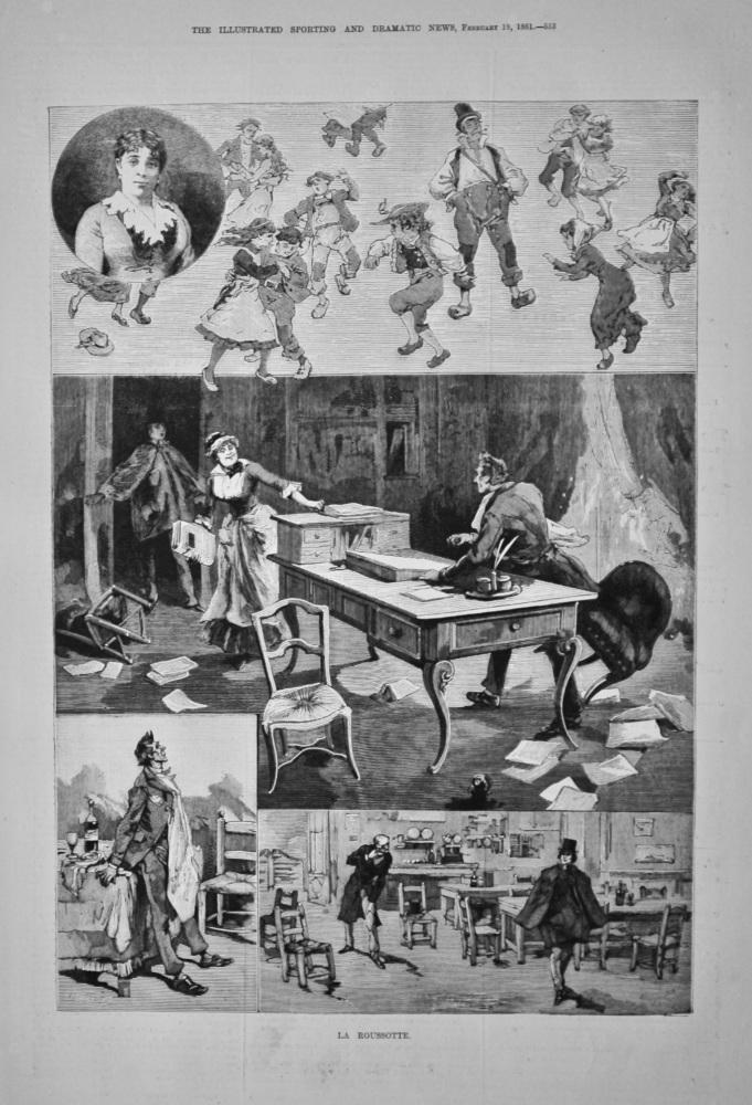 La Roussotte, at the Varieties Theatre. 1881.