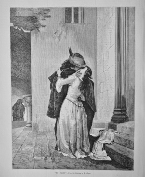 """Il Bacio.""- From the Painting by F. Hayez. 1881"