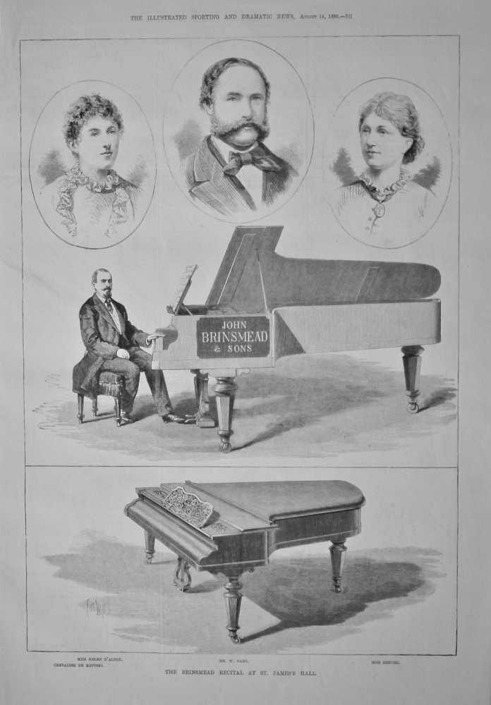 The Brinsmead Recital at St. James's Hall.  1880.