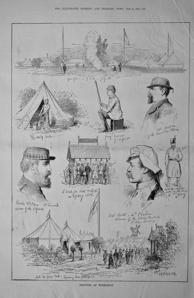 Sketches at Wimbledon.  1880.