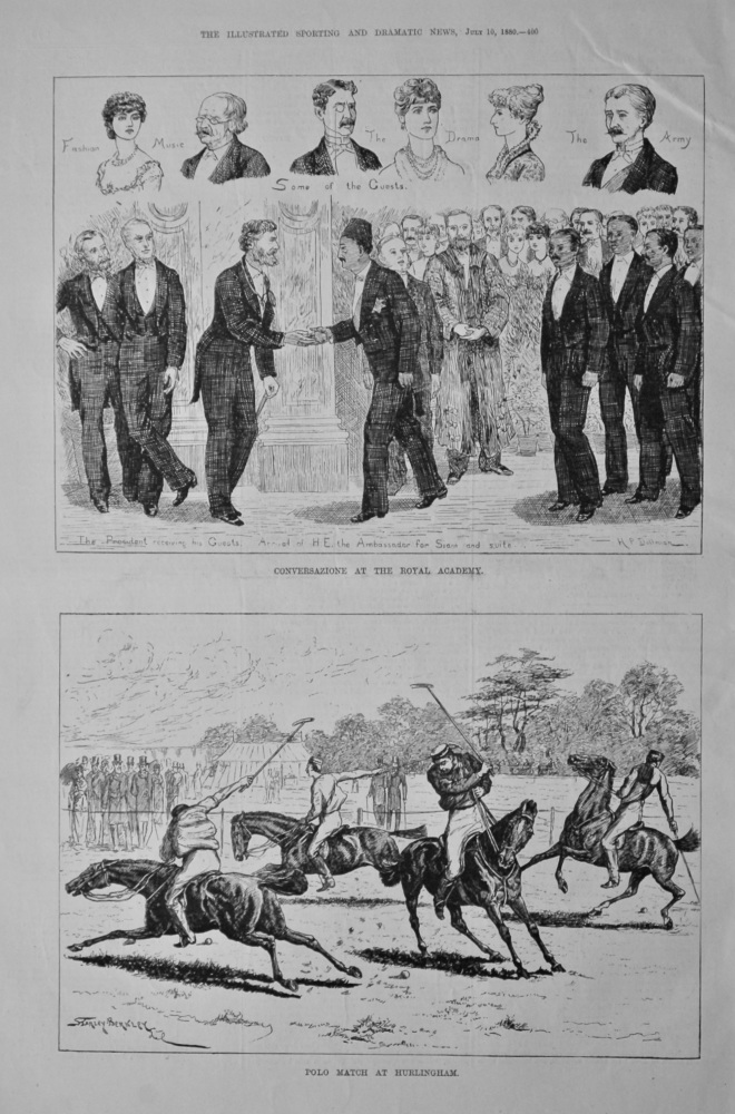 Polo Match at Hurlingham. 1880.
