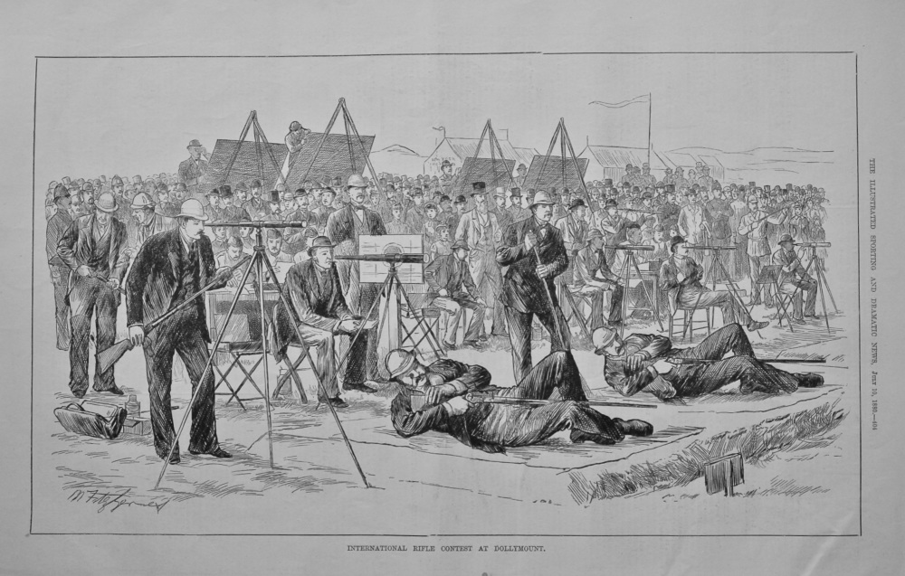 International Rifle Contest at Dollymount.  1880.