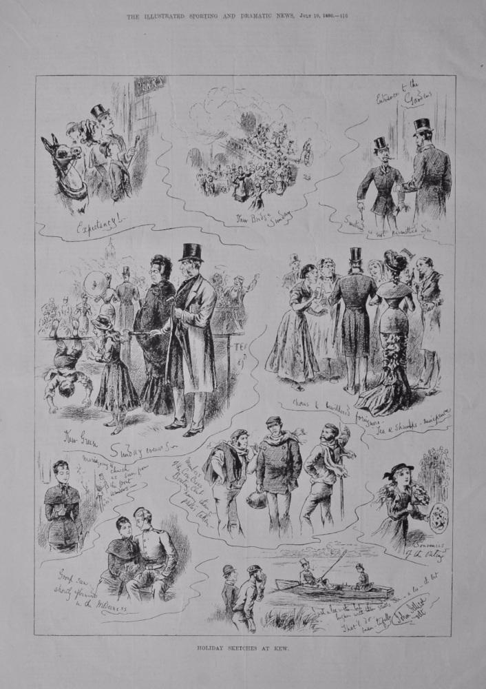 Holiday Sketches at Kew.  1880.