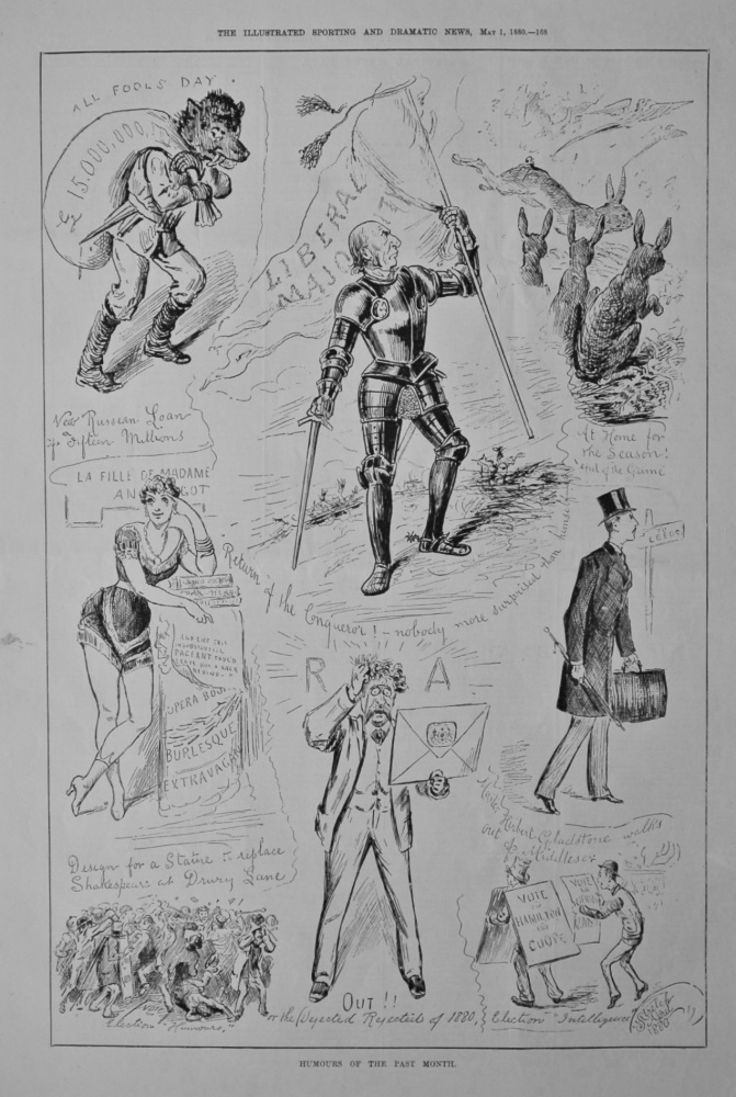 Humours of the Past Month  April  1880.