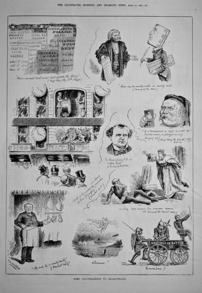 Some Illustrations to Shakespeare.  1880.