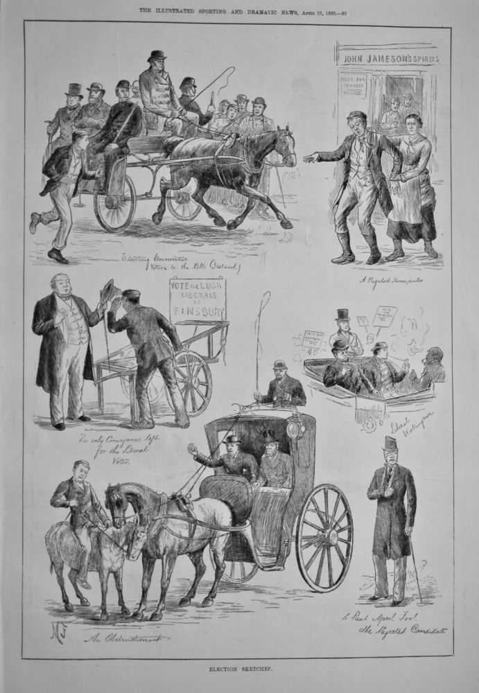Election Sketches.  1880.