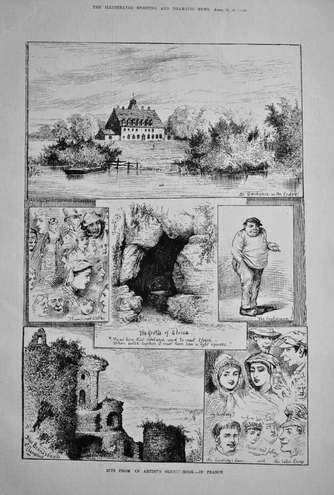 Bits from an Artist's Sketch-book.- in France.  1880.