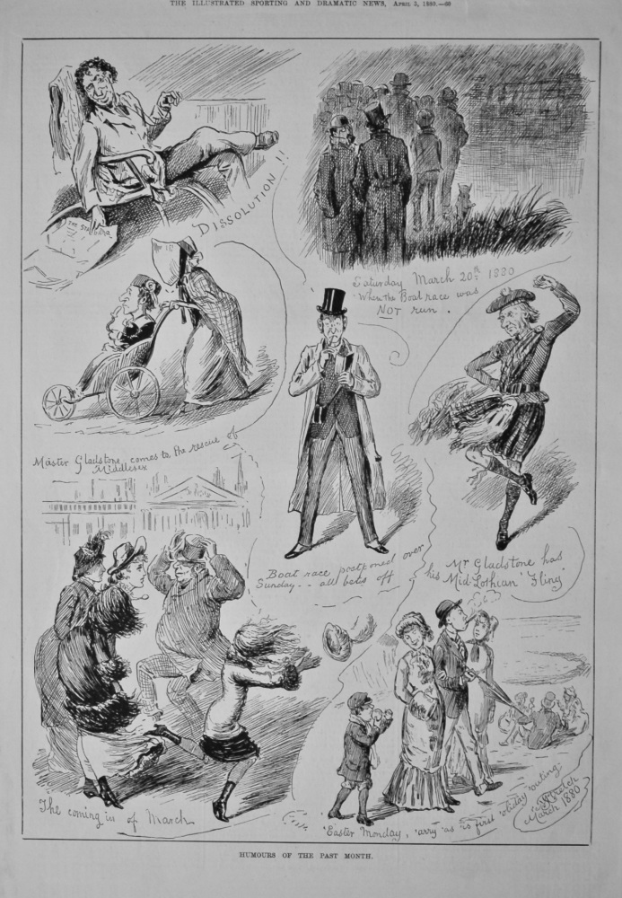 Humours of the Past Month  March 1880.