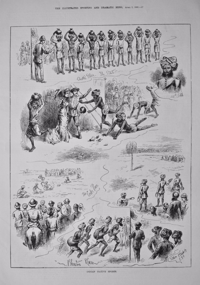 Indian Native Sports.  1880.
