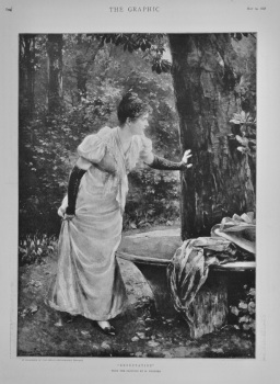 """""""Expectation"""" from the painting by H. Fechner.  1898."""