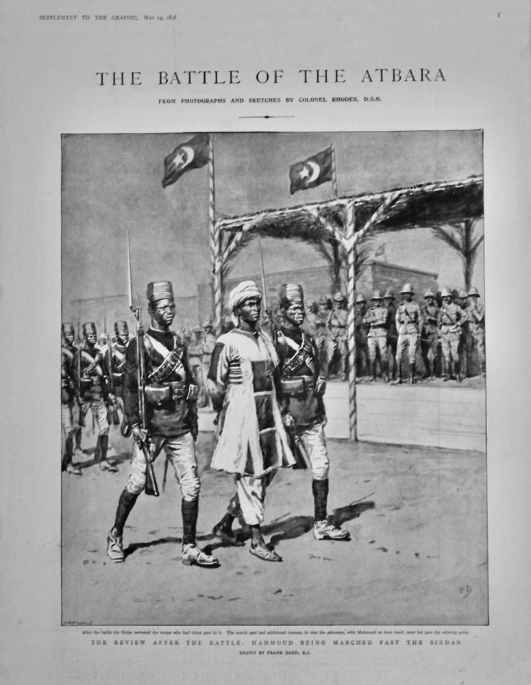 The Graphic, May 14th, 1898. (Supplement)  : The Battle of the Atbara. 1898.