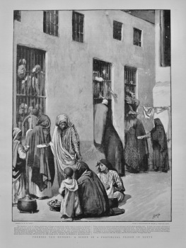 Feeding the Hungry : A Scene in a Provincial Prison in Egypt.  1898.