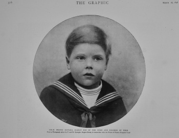 H.R.H. Prince Edward. Eldest Son of the Duke and Duchess of York.  1898/