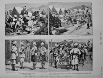 With the Tochi Valley Field Force : In Camp at Miran Shah.  1898.