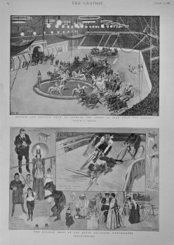 Barnum and Bailey's Show at Olympia : The Arena as seen from the Gallery.  1898.