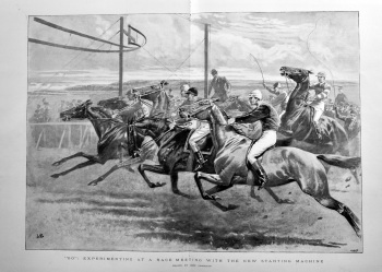 """""""Go"""" : Experimenting at a Race Meeting with the New Starting Machine.  1898."""