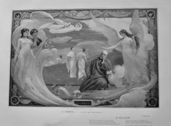 """""""A Puvis de Chavannes"""".  (Artist- G. Dubufe). 1899."""