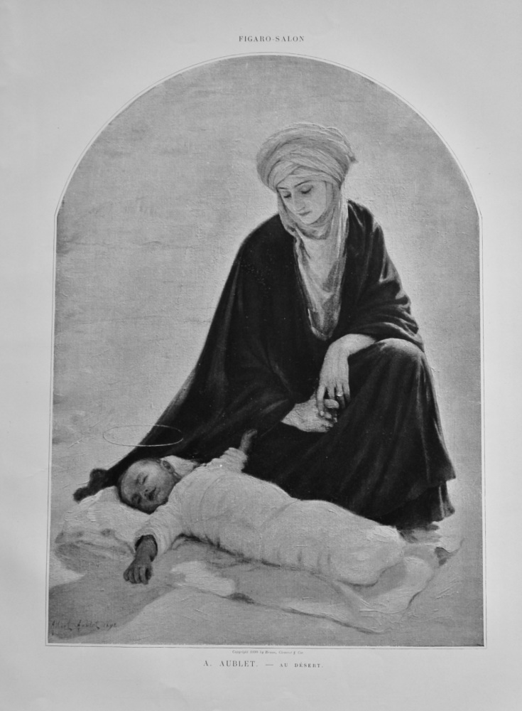 Au Desert.  (Artist- A. Aublet)  1899.