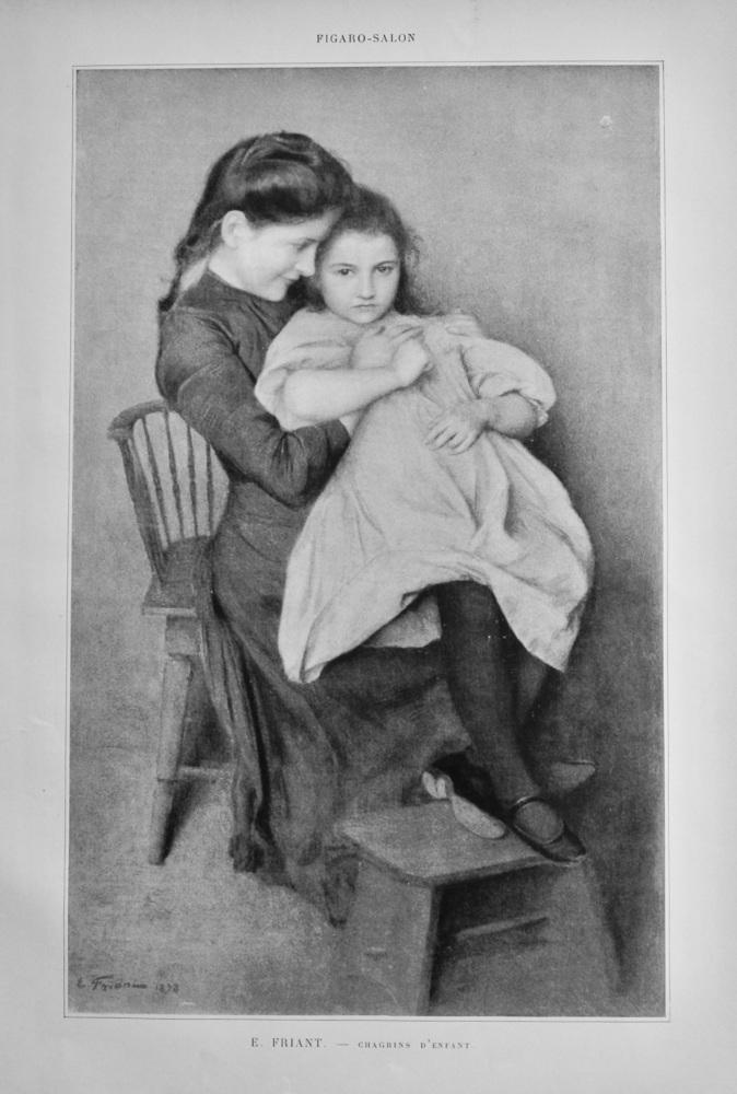 Chagrins D'Enfant.  (Artist- E. Friant).  1899.