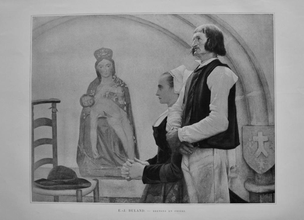Bretons en Priere. (Artist- E.-J. Buland)  1899.