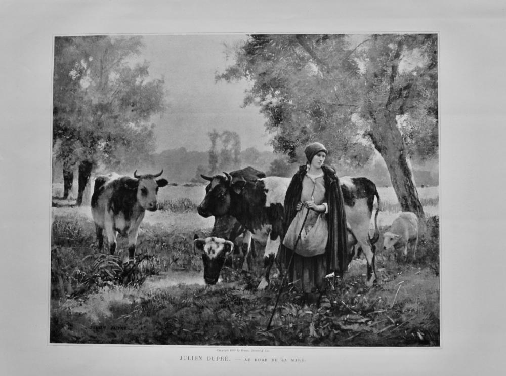 Au Bord de la Mare. (Artist- Julien Dupre.)  1899.