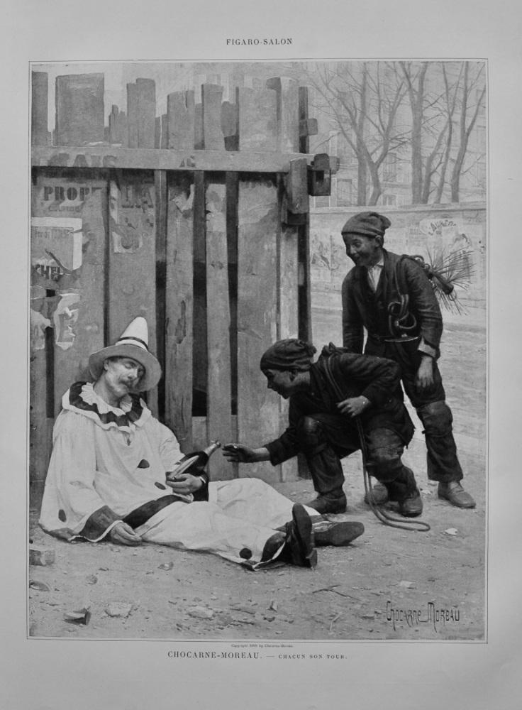Chacun Son Tour.  (Artist- Chocarne Moreau).  1899.